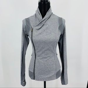 Lululemon Heathered Slate Bhakti Yoga Jacket